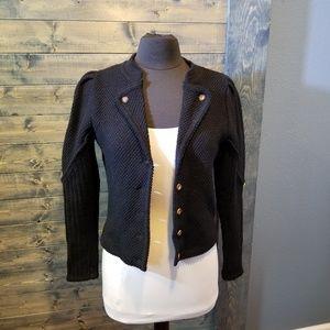 Vintage Wool Black Sweater puff sleeve Germany